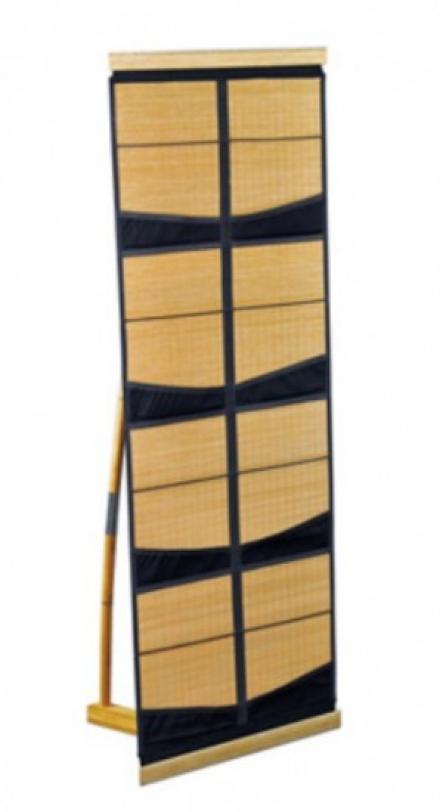 Bambus Prospektständer Beijing 8 Fächer