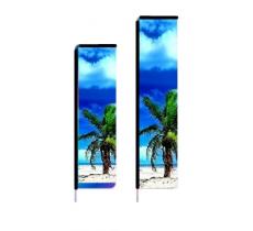 Beachflag mit Ausleger, 420 x 97 cm