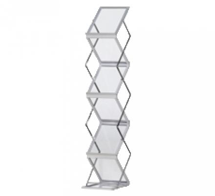 Prospektständer Zigzag Acryl