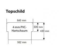 Topschild Halterung - Kundenstopper OptiBoard